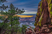 This is a collection of photos I took during a winter hike at Sunset on the flatirons in Boulder, Colorado.