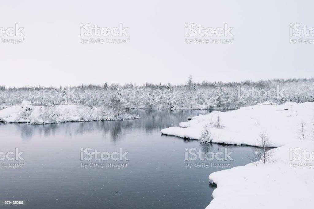 Beautiful winter wild river photo libre de droits