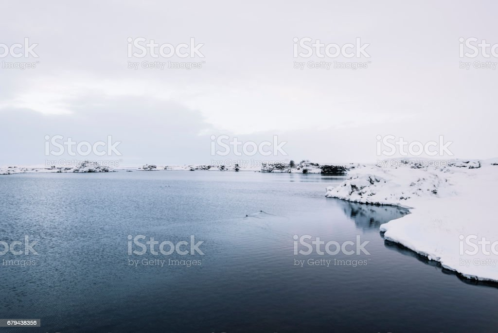 Beautiful winter wild river royalty-free stock photo