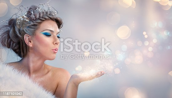 istock Beautiful winter woman 1187101042