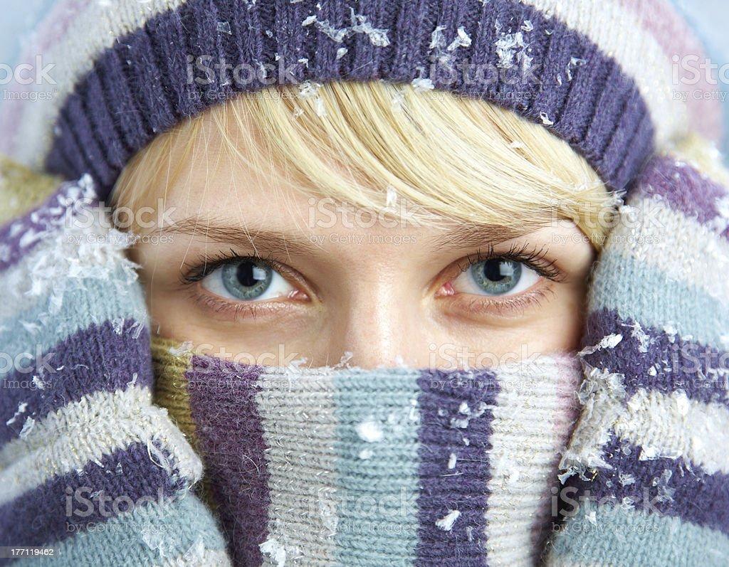 beautiful winter woman royalty-free stock photo