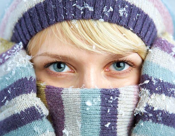 Schöne winter-Frau – Foto