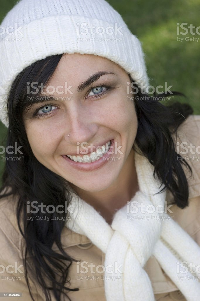 Beautiful Winter Woman royalty-free stock photo