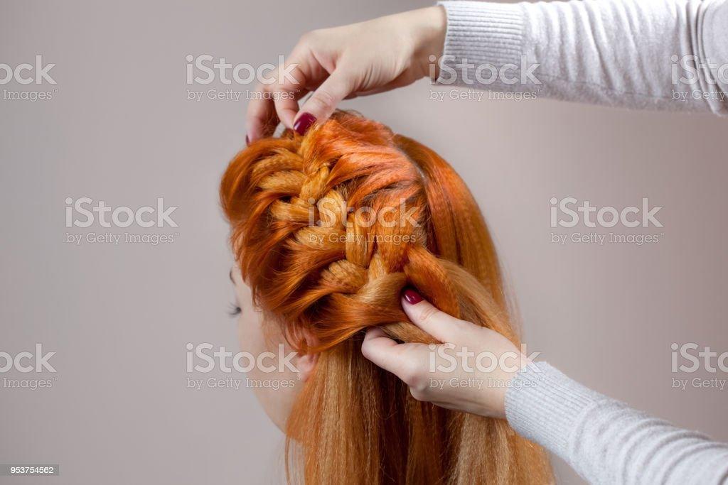 Hairy redhead closeups