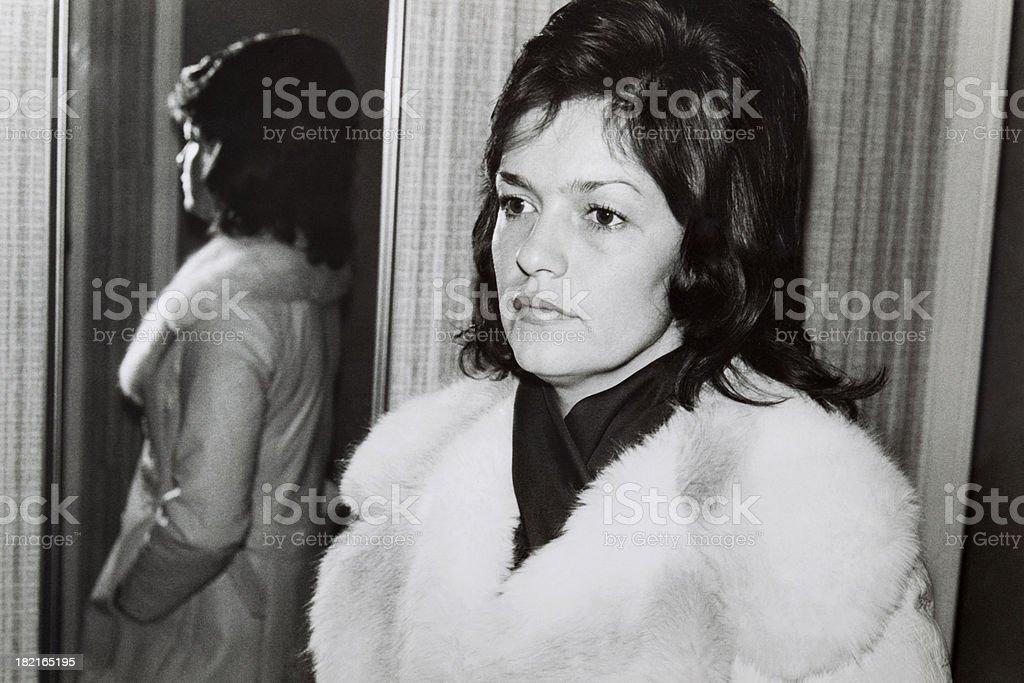 Beautiful Woman 1970's stock photo