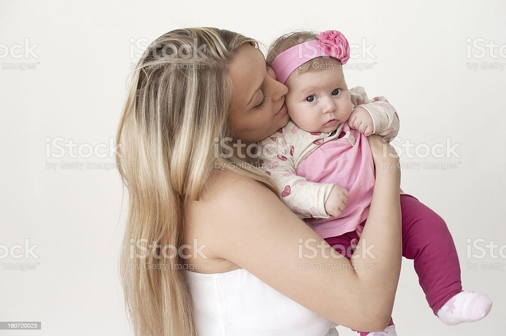 Beautiful Woman and her Baby royalty-free stock photo
