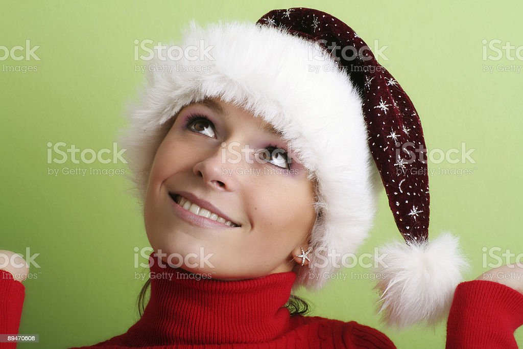 beautiful woman at christmas time royalty-free stock photo