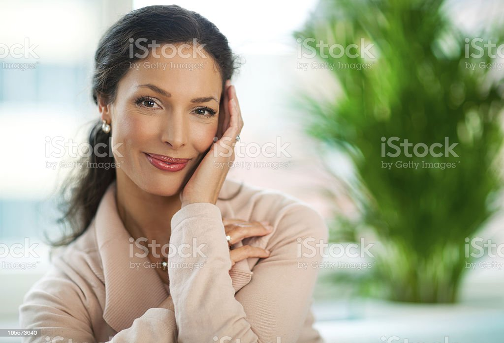 Beautiful Woman At Home royalty-free stock photo