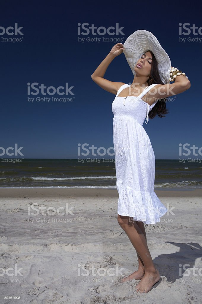 Beautiful Woman at seaside royalty-free stock photo