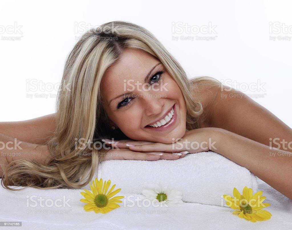 Beautiful woman at spa royalty-free stock photo