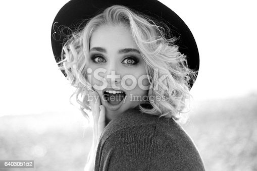 istock Beautiful woman at the beach 640305152