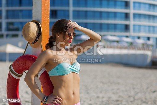 1155046257istockphoto Beautiful woman at the summer beach 542793840