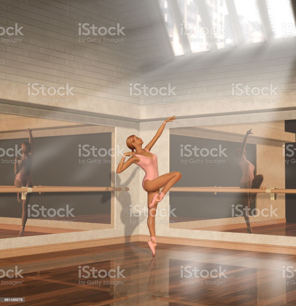 Beautiful Woman Ballet Dance Practice royalty-free stock photo