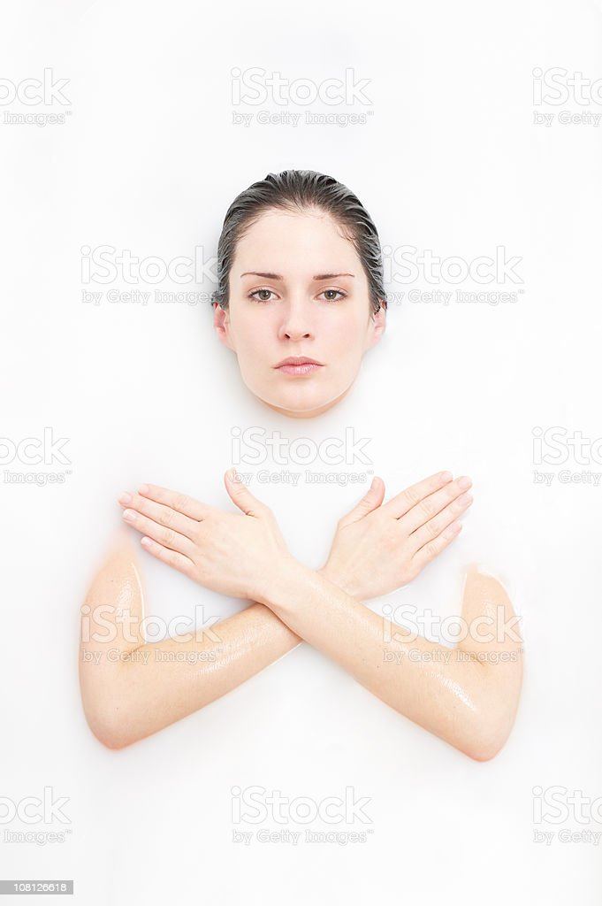 Beautiful Woman Bathing 3 stock photo