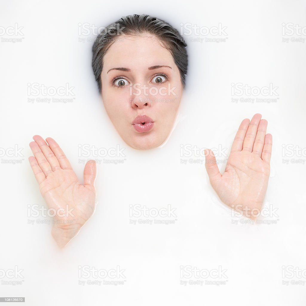Beautiful Woman Bathing 4 stock photo