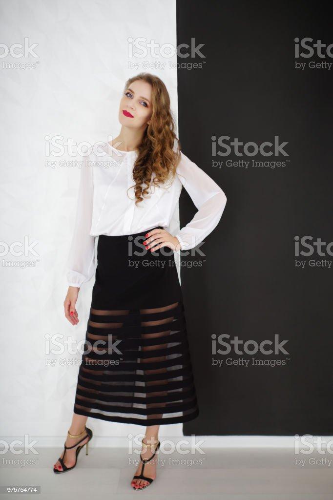 schöne Frau Schönheit Stil - Lizenzfrei Abwarten Stock-Foto
