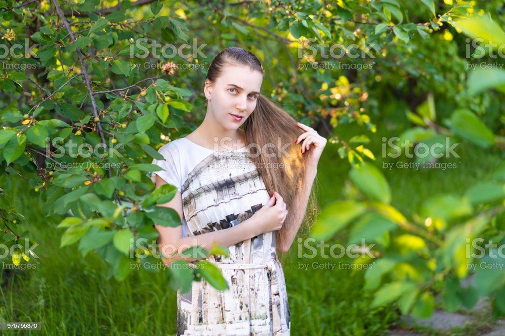 schöne Frau Schönheit Stil - Lizenzfrei Baum Stock-Foto