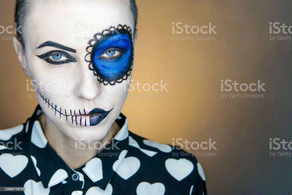 Photo Libre De Droit De Maquillage Halloween Belle Femme