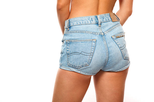 Beautiful woman body in denim jeans short Shorts hot sexy butts stock pictures, royalty-free photos & images