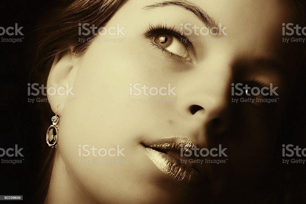 Beautiful woman closeup royalty-free stock photo