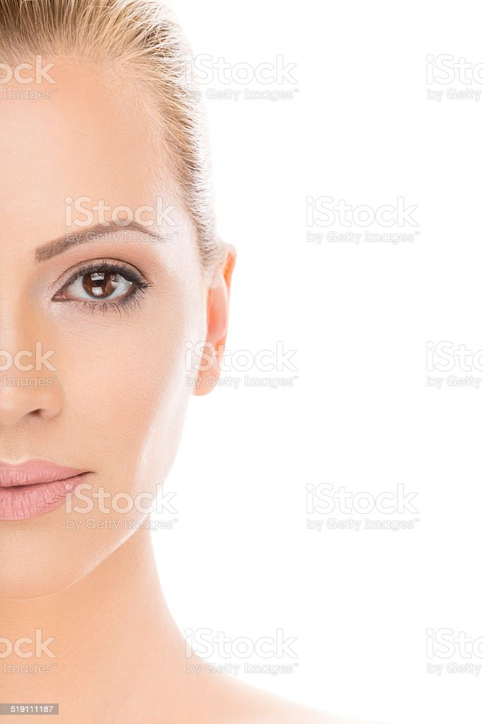 Beautiful woman, cross section stock photo