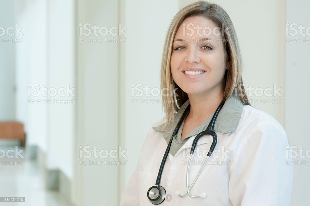 Beautiful Woman Doctor or Medical Professional royalty-free stock photo