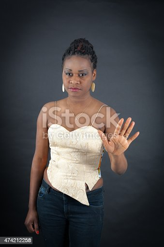 istock Beautiful woman doing different expressions in different sets of clothes 474212258
