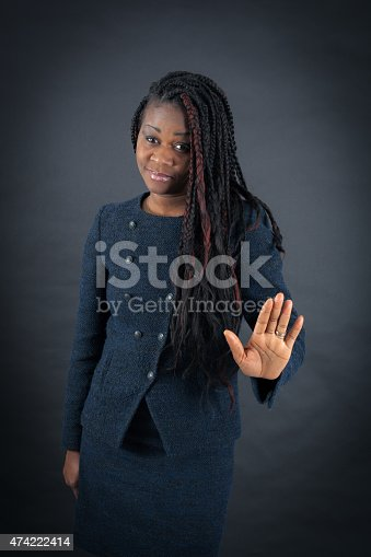 istock Beautiful woman doing different expressions in different sets of clothes 474222414