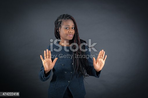istock Beautiful woman doing different expressions in different sets of clothes 474222418
