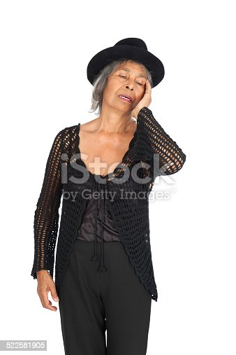 491747470 istock photo Beautiful woman doing different expressions in different sets of clothes 522581905