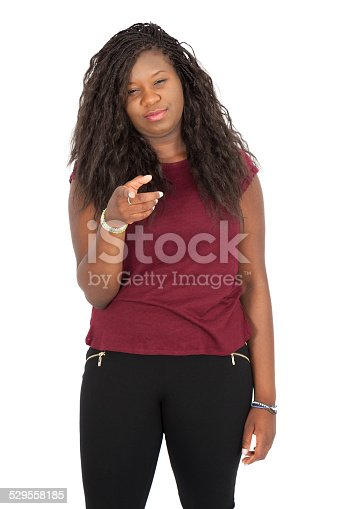 istock Beautiful woman doing different expressions in different sets of clothes 529558185