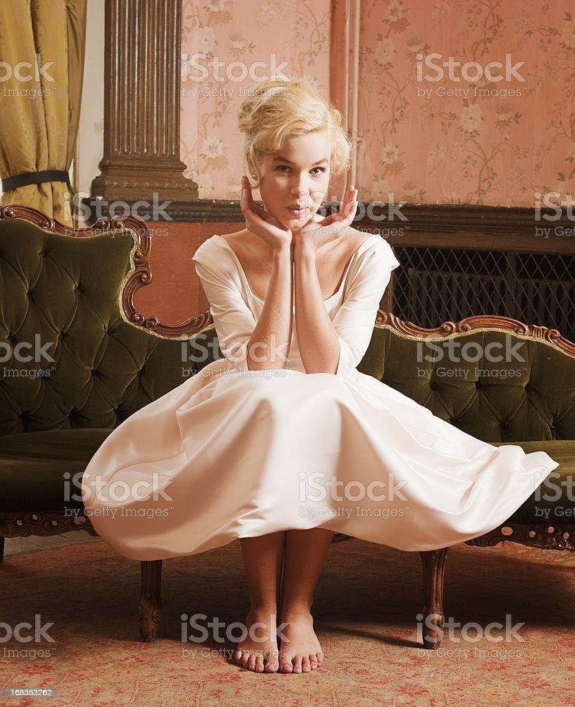 Beautiful Woman, Dressing Room stock photo