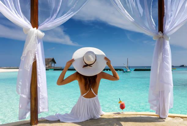 Beautiful woman enjoys her summer holiday in the tropics picture id903703132?b=1&k=6&m=903703132&s=612x612&w=0&h=l4jkflgeakh6c62momnnyccpmztplfgaipzqch1lmzw=