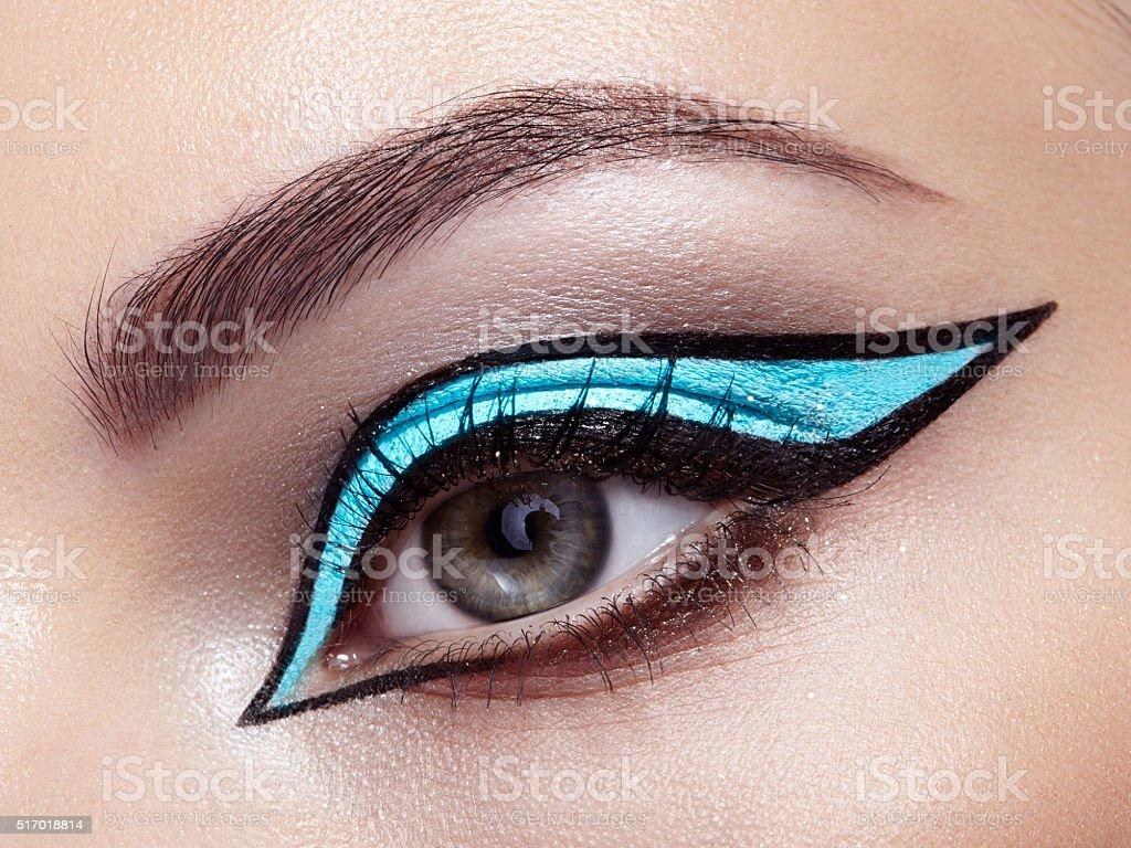 Beautiful woman eye stock photo