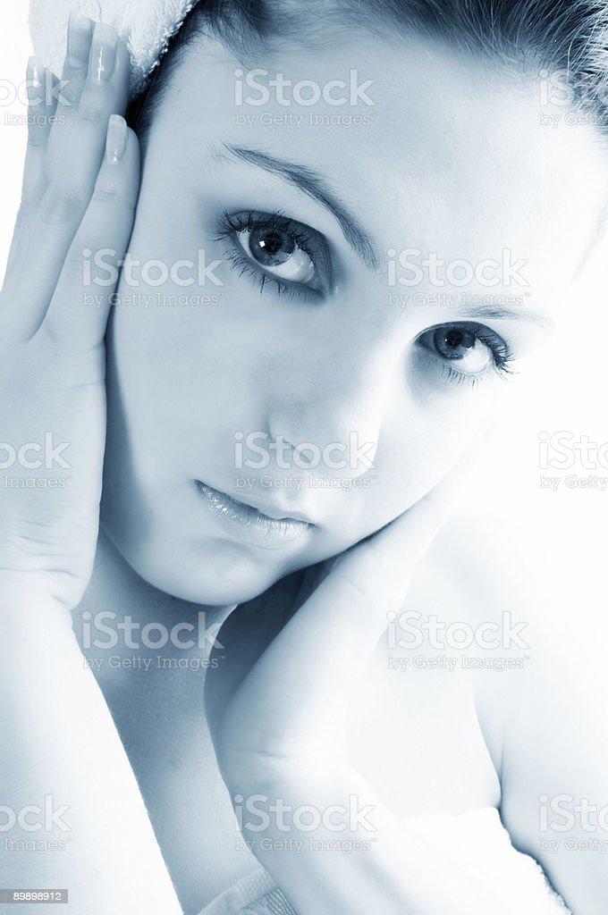 beautiful woman face. royalty free stockfoto