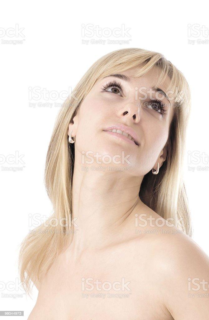 Beautiful woman face royalty-free stock photo