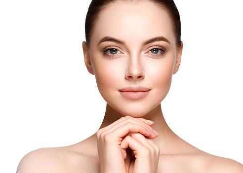 Photo libre de droit de Beautiful Woman Face Portrait Beauty Model ...