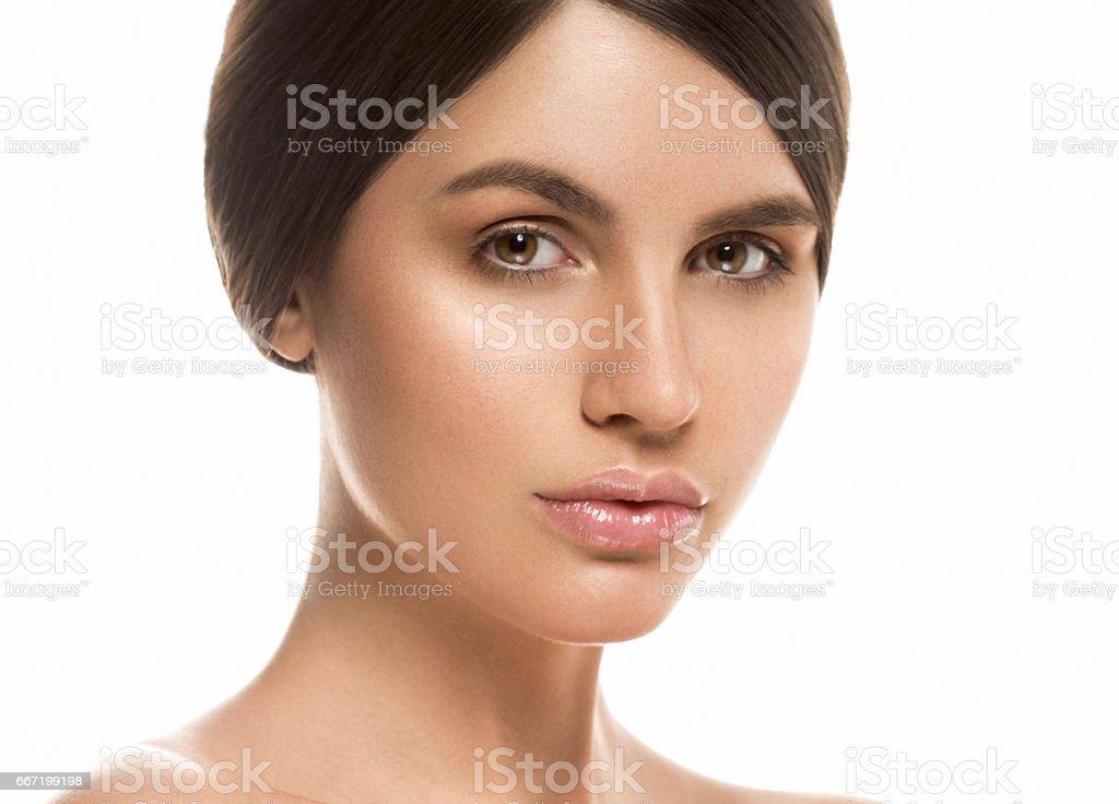 Beautiful Woman Face Portrait Beauty Skin Care Concept Beautiful beauty young female model girl стоковое фото