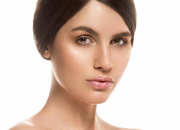 Cтоковое фото Beautiful Woman Face Portrait Beauty Skin Care Concept Beautiful beauty young female model girl