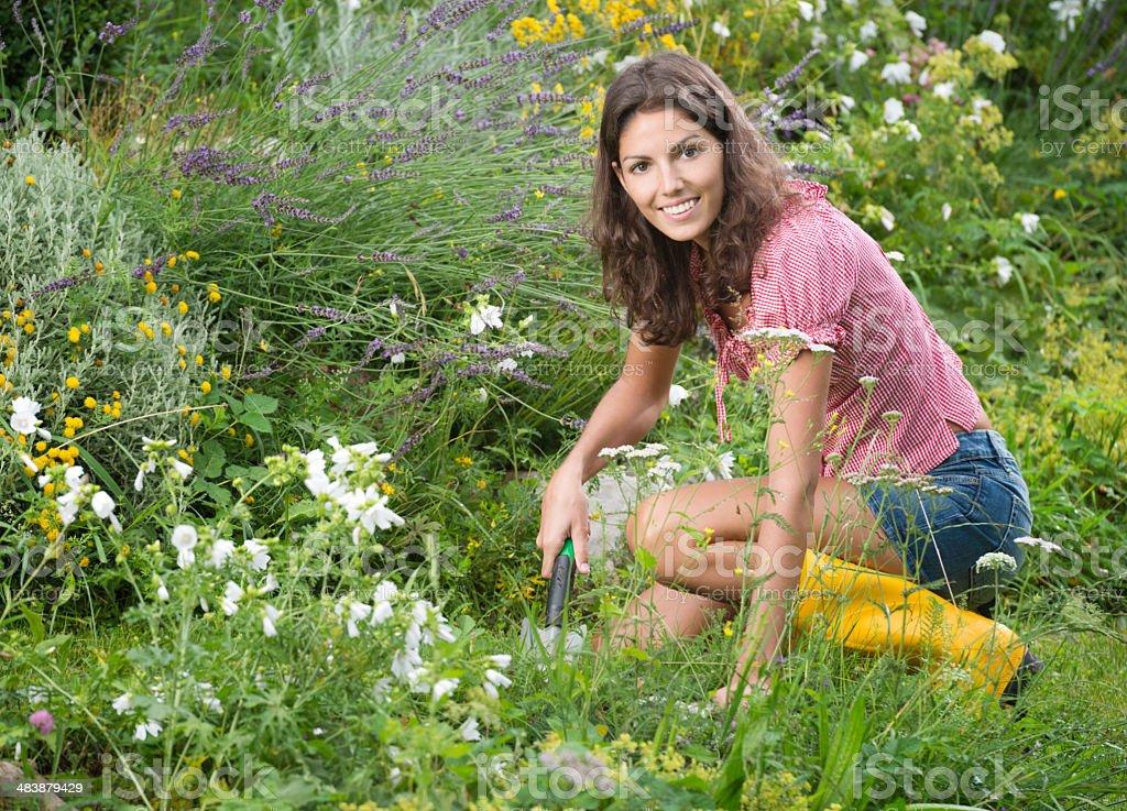 Beautiful Women Was Blossoming Garden Stock Image - Image