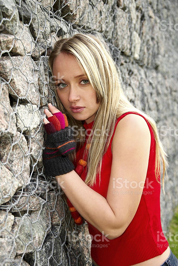 beautiful woman in a park royalty-free stock photo