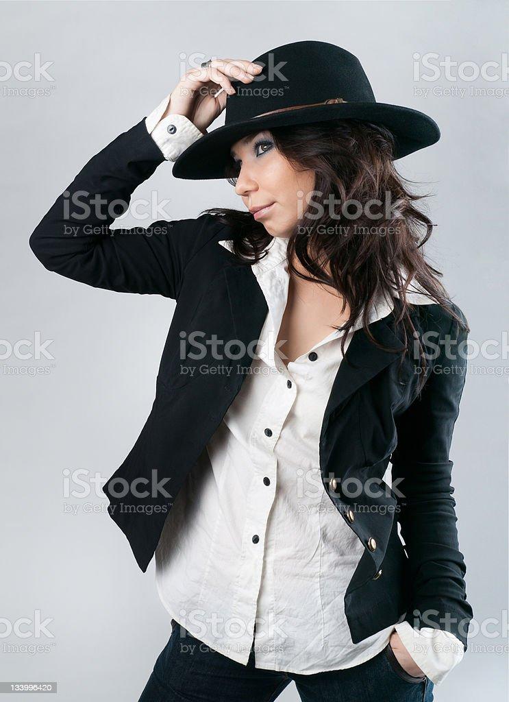 Schöne Frau in cowboy-Hut. – Foto
