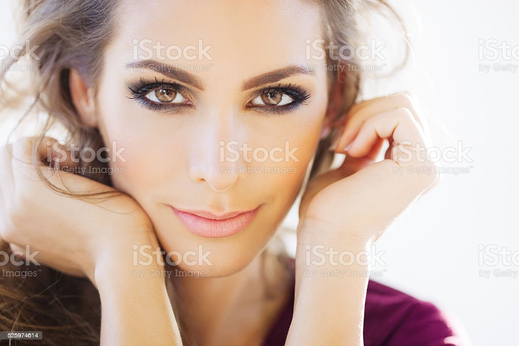 Beautiful Woman In Daylight stock photo