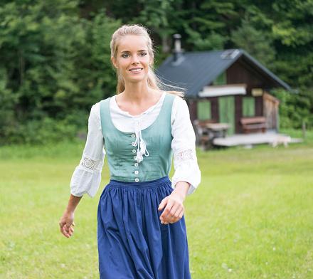 Beautiful woman in Dirndl costume, Austria