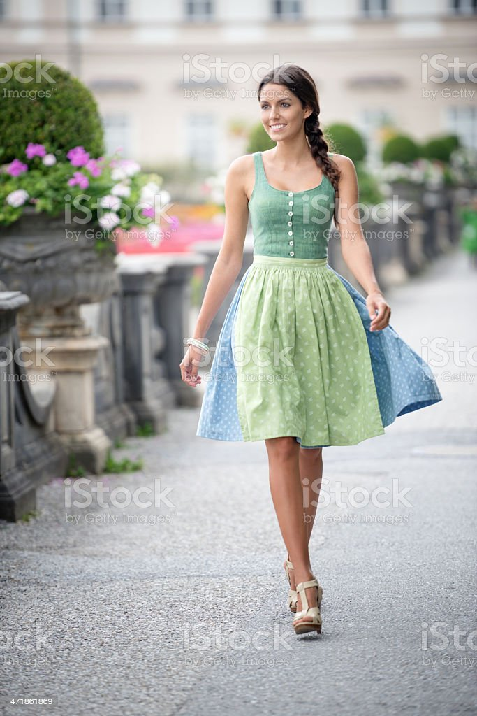 Beautiful woman in Dirndl Fashion royalty-free stock photo