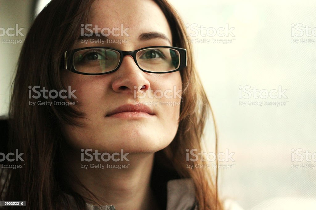 Beautiful woman in glasses portrait. Woman from office. Woman dr royalty-free stock photo