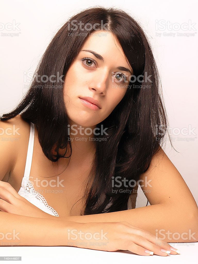 Beautiful woman in lingerie royalty-free stock photo