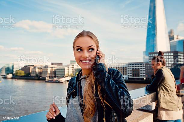 Beautiful Woman In London Stock Photo - Download Image Now