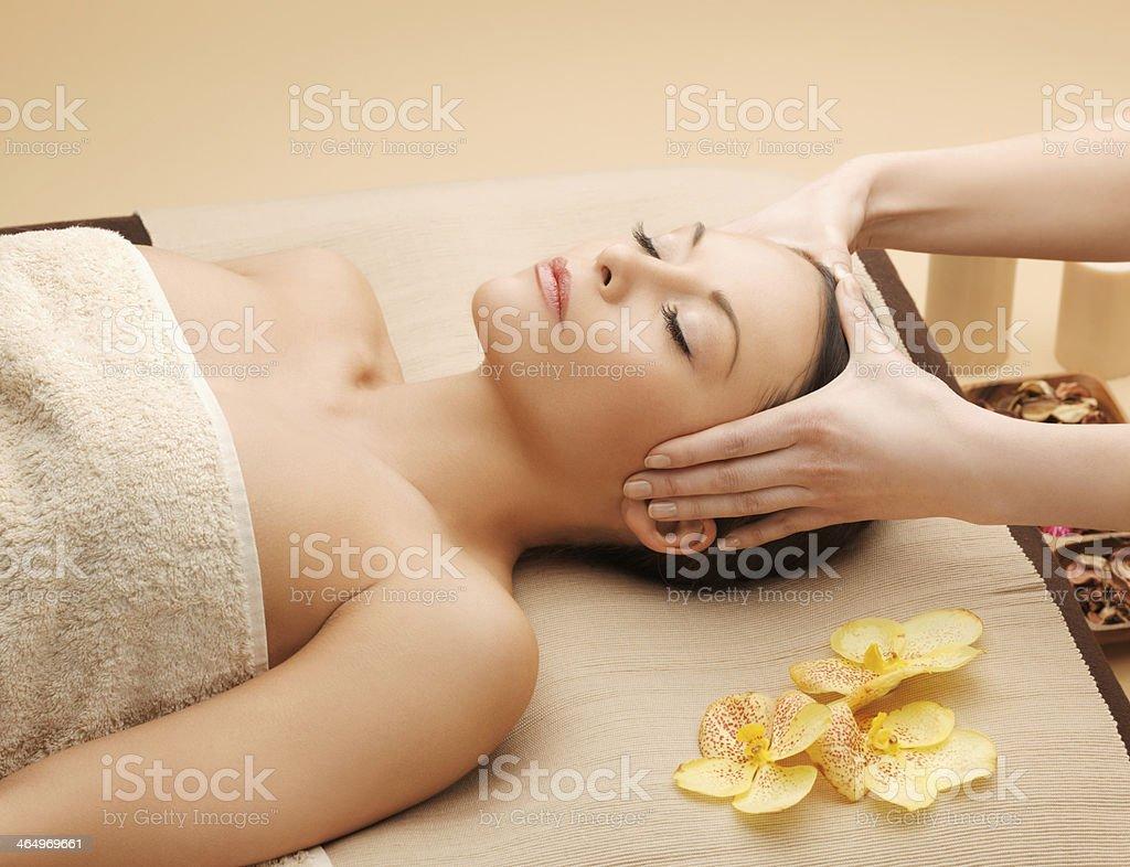 beautiful woman in massage salon royalty-free stock photo