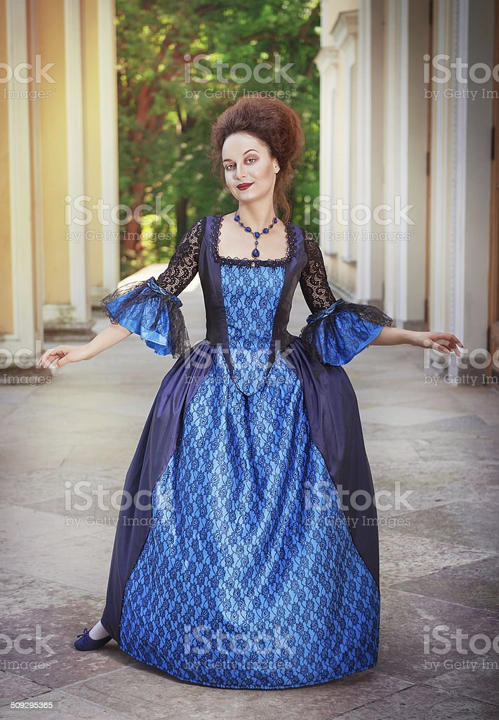 Beautiful Woman In Medieval Dress Stock Photo & More Pictures of ...